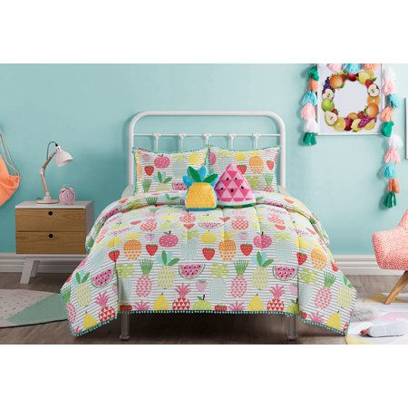 Heritage Club Kids Colorful Fruit Comforter & Sham Set w/ 2 Bonus Decorative Pillows Charter Club Vail Comforter