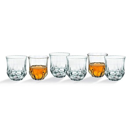 Whiskey Glasses Tumbler Bar Glass Set - Drink Glassware for Wine, Scotch, Water, Juice, Beer and Cocktails - 10oz, Set of 6 ()
