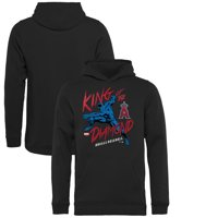 Los Angeles Angels Fanatics Branded Youth MLB Marvel Black Panther King of the Diamond Pullover Hoodie - Black