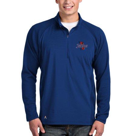 Tulsa Golden Hurricane Antigua Sonar Quarter-Zip Pullover Jacket - Royal ()