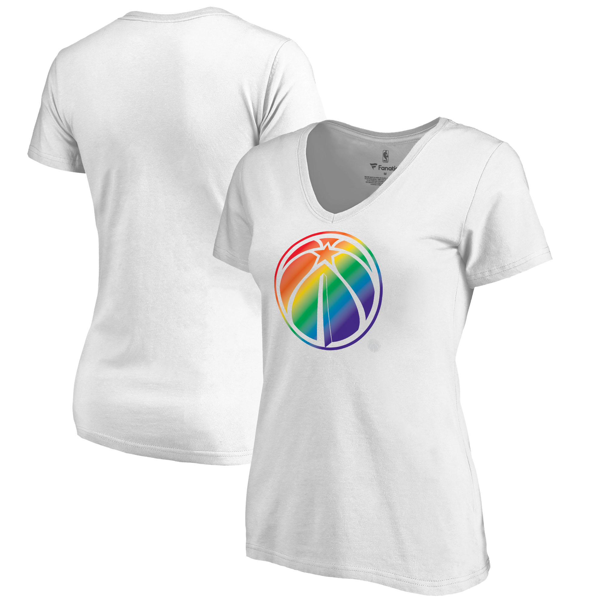 Washington Wizards Fanatics Branded Women's Team Pride V-Neck T-Shirt - White