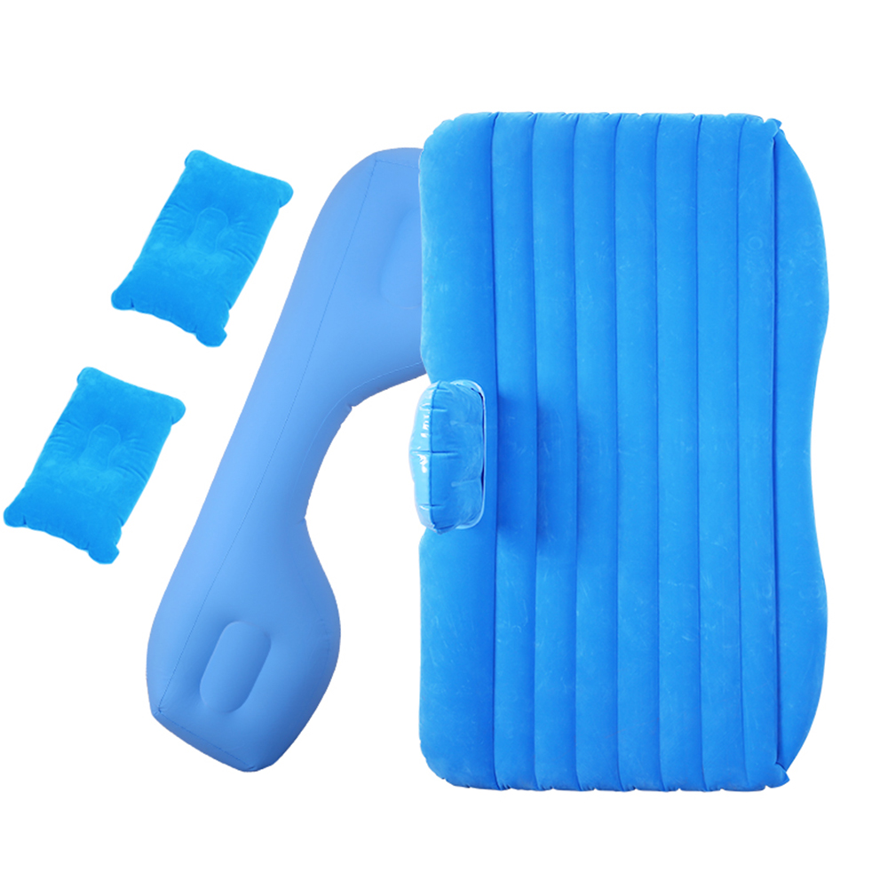 Car Air Bed Inflatable Mattress Travel Sleeping Camping Cushion Solid Seat Pads