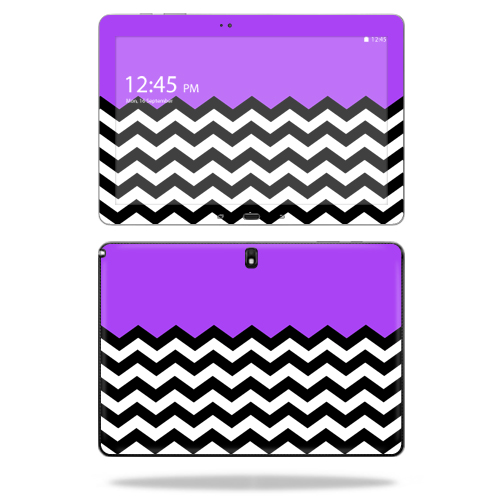"Mightyskins Protective Vinyl Skin Decal Cover for Samsung Galaxy Note Pro 12.2"" P900 Tablet skins wrap sticker skins Purple Chevron"