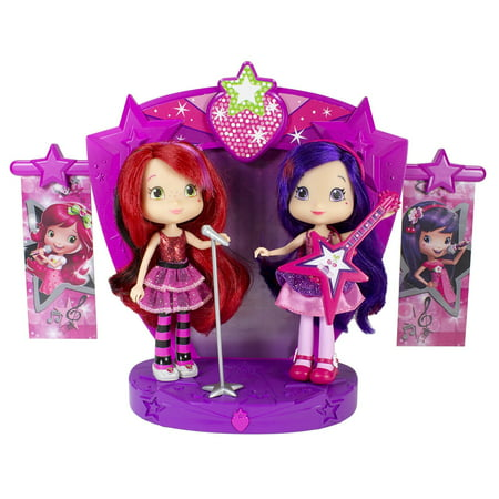 Strawberry Shortcake Sweet Beats Stage Playset with 2 Dolls, Strawberry Shortcake and Cherry Jam perform on the Sweets Beats Stage By The Bridge Direct Ship from US