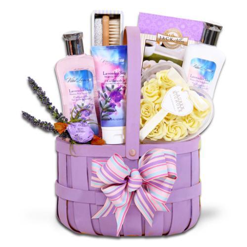 Alder Creek Gift Baskets Lavender Relaxation Spa Gift Basket