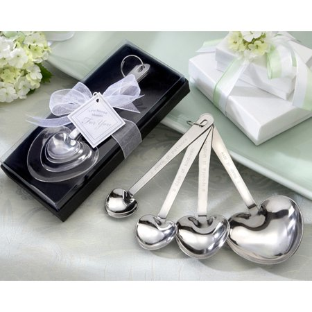 Kate Aspen Love Beyond Measure Heart Shaped Measuring Spoons in Gift Box - Set of 6 - Guest Gift, Party Souvenir, Party Favor or Decorations for Weddings, Bridal Showers, Baby Showers & More