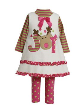 e2889907e971 Product Image Bonnie Jean Christmas Baby Girls Ivory Joy Dress Set 0-3  months