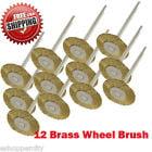 "MTP ® Pack of 12  Rotary Brass Wheel Brush Dremel  443 442 428 8220-2/28 395 4000 1/8"" Shank Clean Polish Tool Jewelry Stone Hobby"