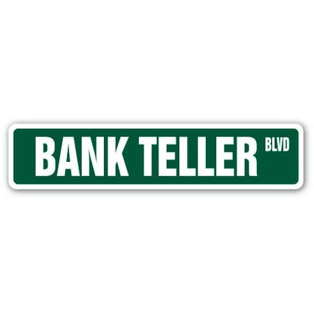 Bank Teller Street Sign Cash Check Drive Thru Banking  Indoor Outdoor   24   Wide