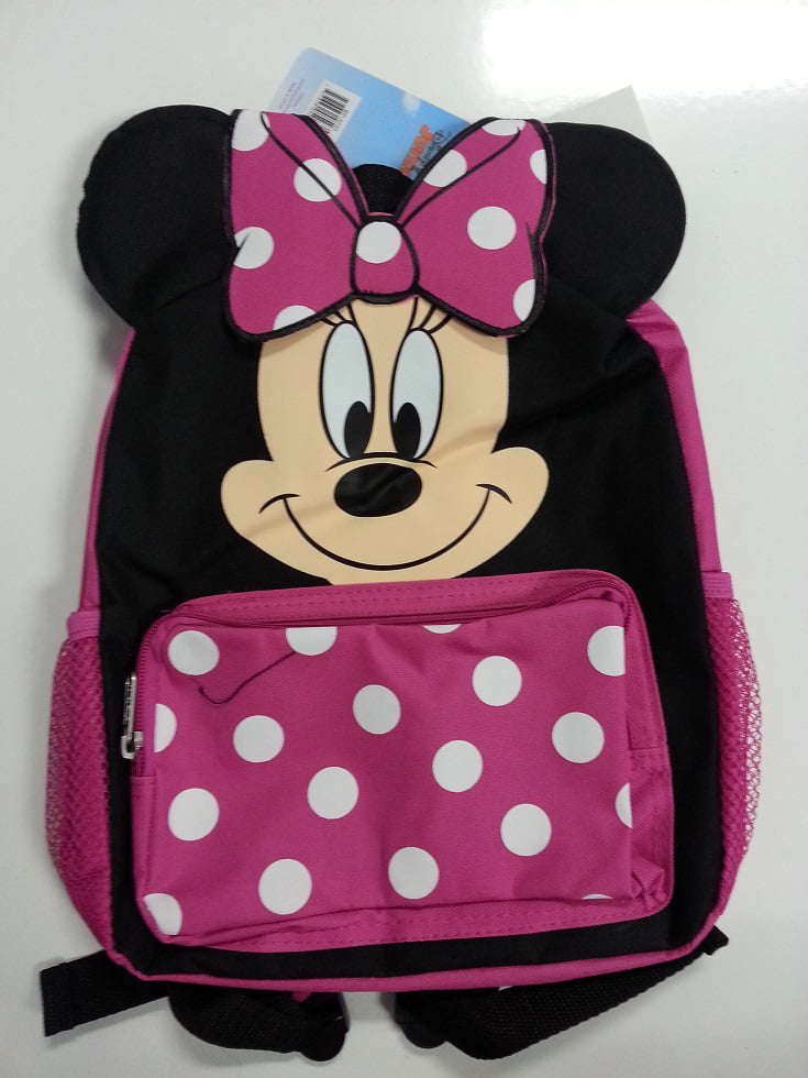 Small Backpack - Disney - Minnie Mouse Face Girls Bag New 052354