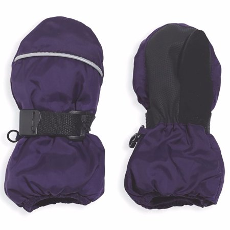 Cozy Cub Toddler Girl Winter Mittens - Easy-On Insulated Water-Repellant Snoball Mittens - Purple