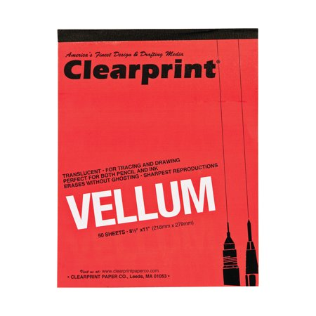 Clearprint Design and Sketch Pad, Unprinted, 8.5