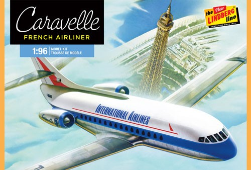 Lindberg 513 1:96 Caravelle French Airliner Plastic Model Airplane Kit by Lindberg