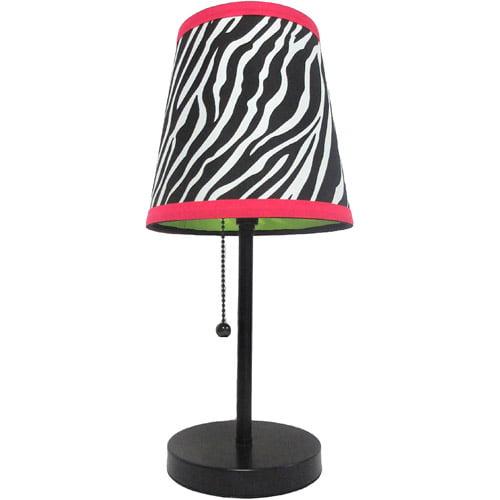 Limelights Zebra Fun Prints Table Lamp