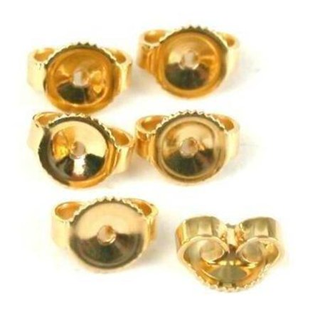 6 14K Gold Filled Earring Backs Yellow Stud Nut (Gold Fill Gemstone)