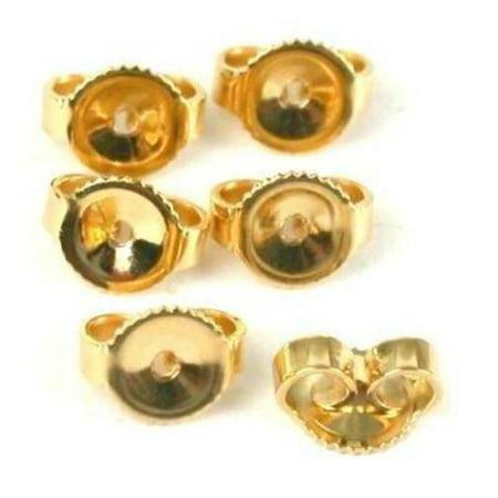 6 14K Gold Filled Earring Backs Yellow Stud Nut - 14k Gold Filled Stud Earrings
