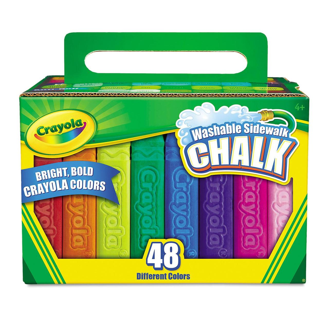 crayola 194 174 washable sidewalk chalk 48 assorted bright