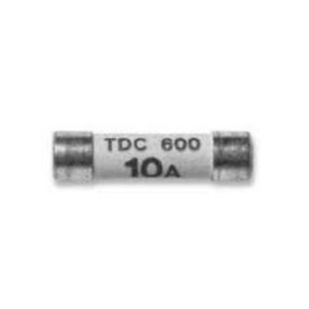 COOPER BUSSMANN TDC600-10A FUSE, CARTRIDGE, 10A, 6.3X25.4MM, FAST ACTING
