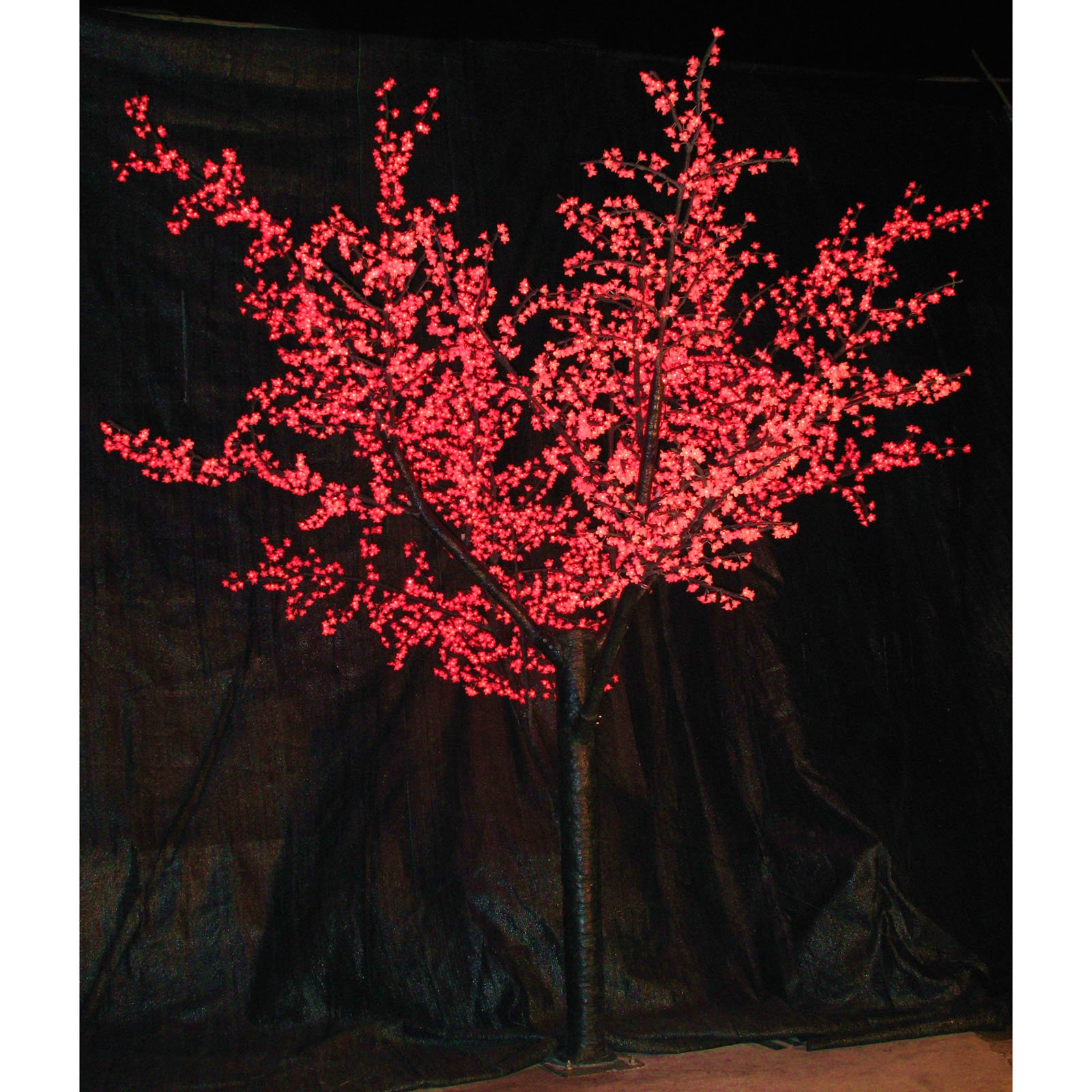 12 ft. Pre-lit LED Cherry Blossom Tree - Red