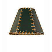 Meyda Tiffany 24176 Faux Leather Single Faux Leather Hexagon Shade