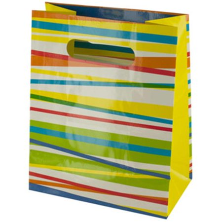 Bulk buys Multi-Color Stripes Gift Bag