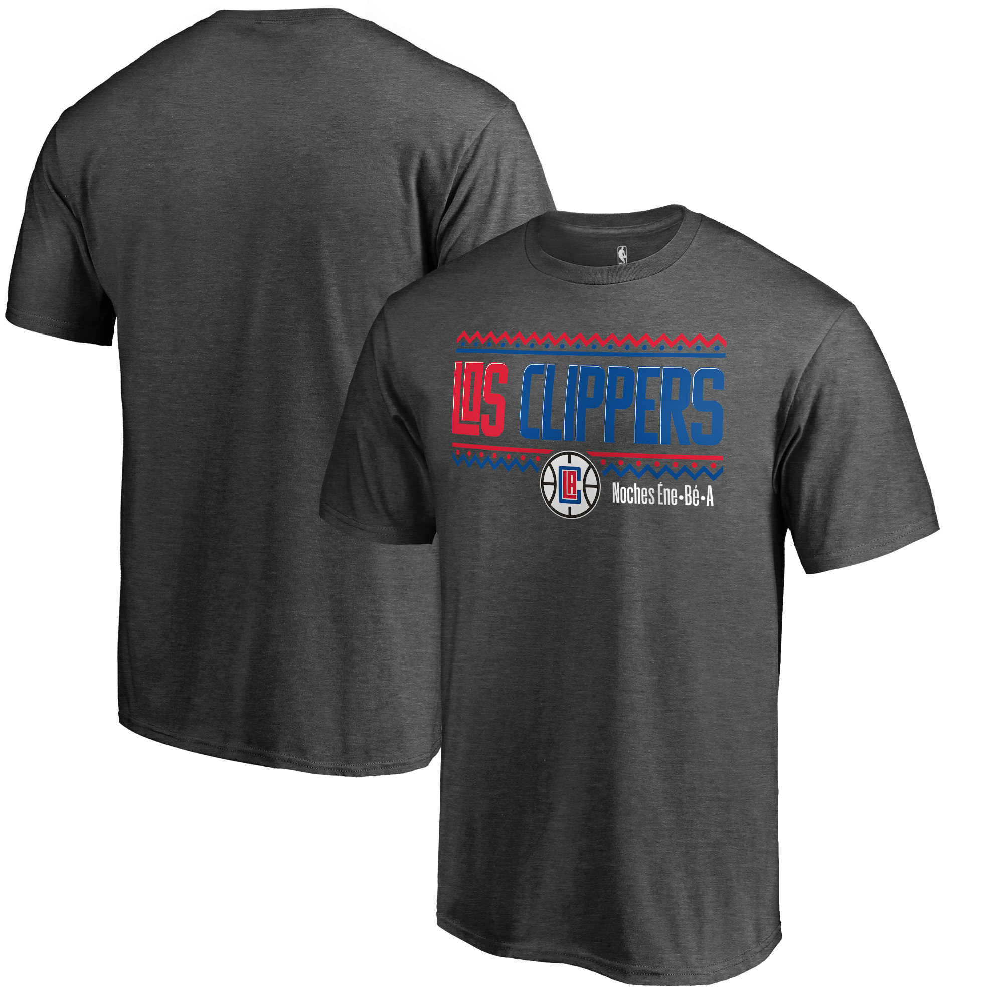 LA Clippers Fanatics Branded Noches Ene-Be-A Wordmark T-Shirt - Heather Gray