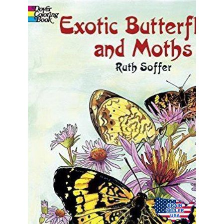 Exotic Butterflies and Moths (Dover Nature Coloring Book) by Ruth ...