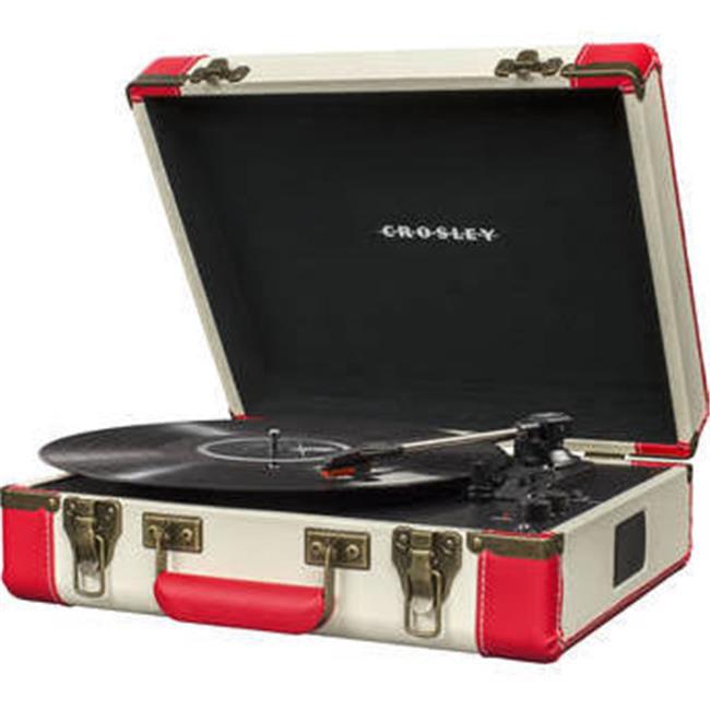 Crosley Red /& Cream Executive Portable USB Turntable
