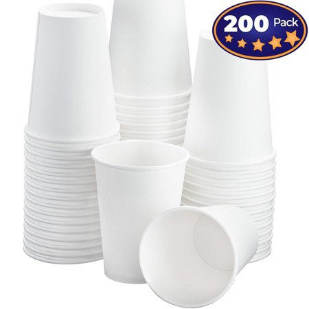 Restaurant Grade 12 Oz White Paper Coffee Cups 200 Pack By Avant Grub. BPA Free Disposable Cups For Hot and Cold Drinks. Serve Teas, Sodas, Ciders and More At Kiosks, Shops, and Concession