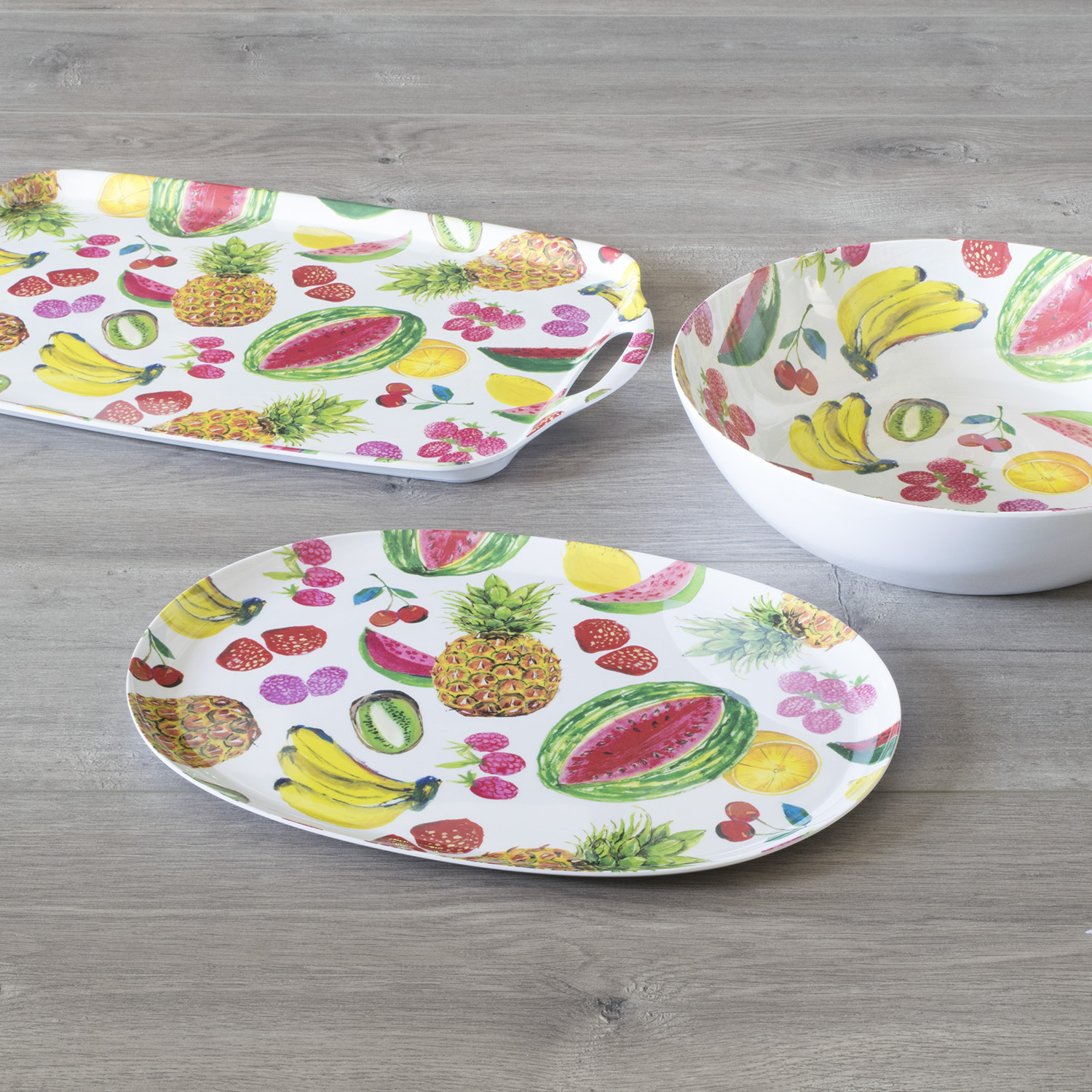 MAINSTAYS - TROPICAL FRUIT 3 PCS SERVING SET