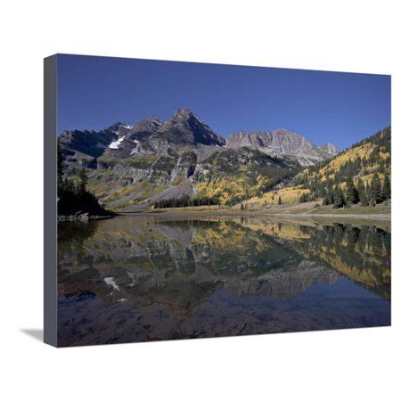 Maroon Bells Reflected in Crater Lake With Fall Color, White River National  Forest, Colorado, USA Stretched Canvas Print Wall Art By James Hager