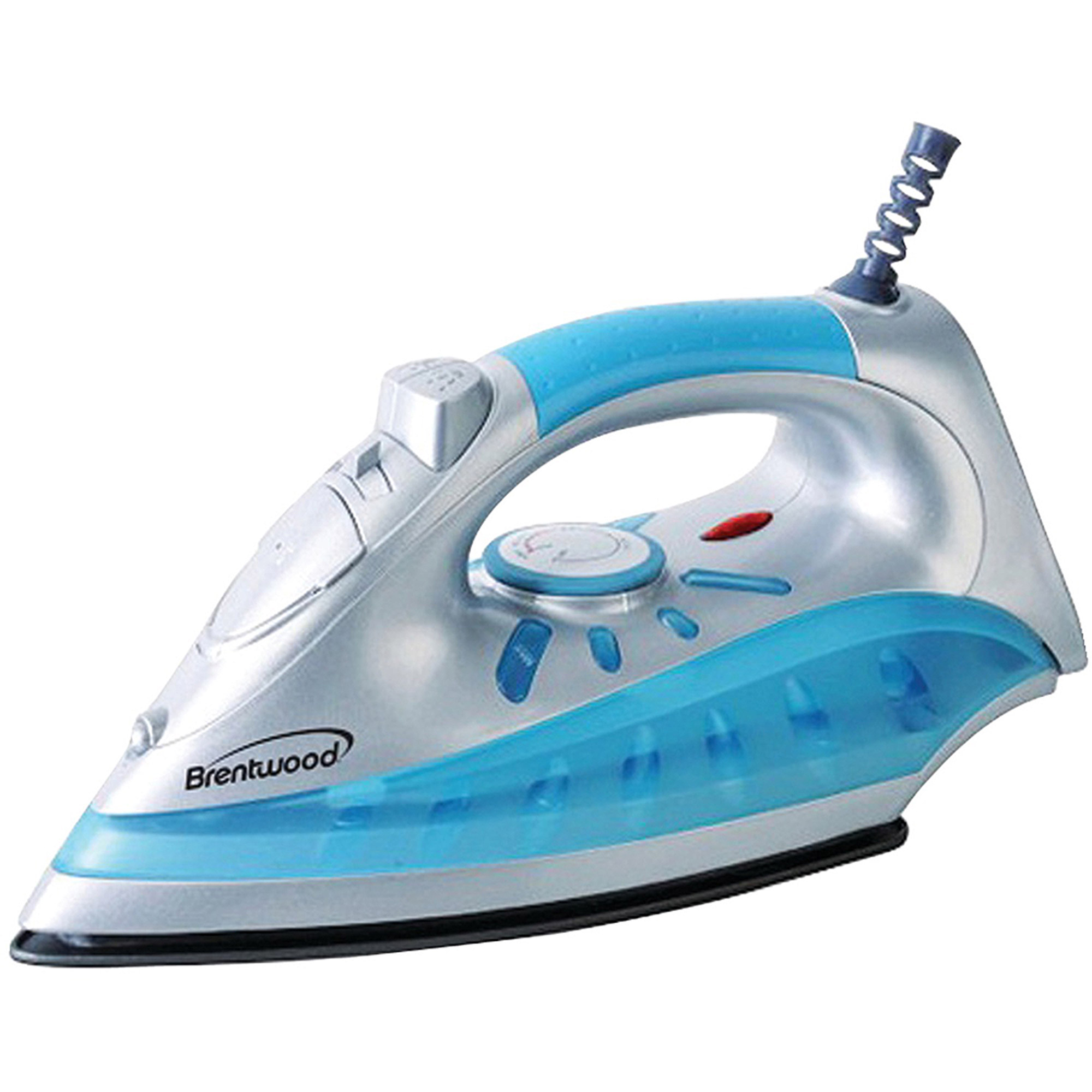Brentwood MPI-60 Non-Stick Steam/Dry Spray Iron, Silver Finish