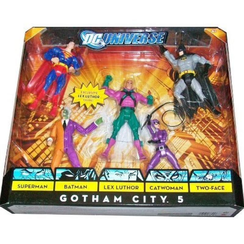 DC Universe Classics Exclusive Action Figure 5-Pack Gotham City 5 (Superman, Batman, Lex Luthor, Catwoman and Two-Face) N5875