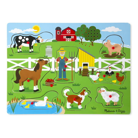 Old MacDonald's Farm Sound Puzzl - Wooden Star Puzzle