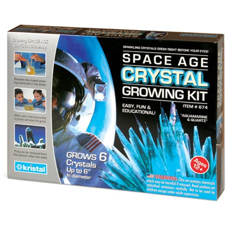Space Age Crystals  6 Crystals  Aquamarine And Quartz