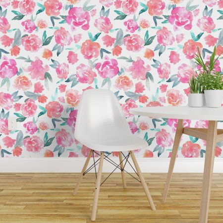 L And Stick Removable Wallpaper Fl Bohemian Nursery Decor Modern Home
