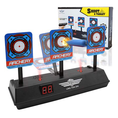 Yosoo Electric Scoring Auto Reset Shooting Digital Target with Light Sound Effect for Boys and Girls for Soft Bullet Gun