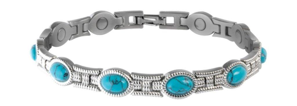 Sabona Jewelry Womens Bracelet Lady Stones Magnetic Turq 220 by Sabona