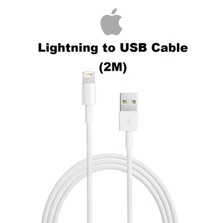 Apple 2M ( 6FT)  Lightning To USB Cable For iPhone X, 8, 7, 6,  iPad, iPod