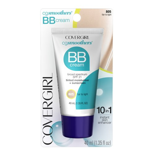 COVERGIRL Smoothers Lightweight BB Cream Fair to Light 805, 1.35 oz