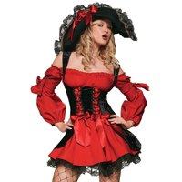 Leg Avenue Women's Red Vixen Pirate Costume