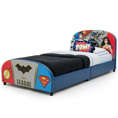 Delta Children DC Comics Justice League Upholstered Bed, Twin, (Rooms To Go Kids Twin)