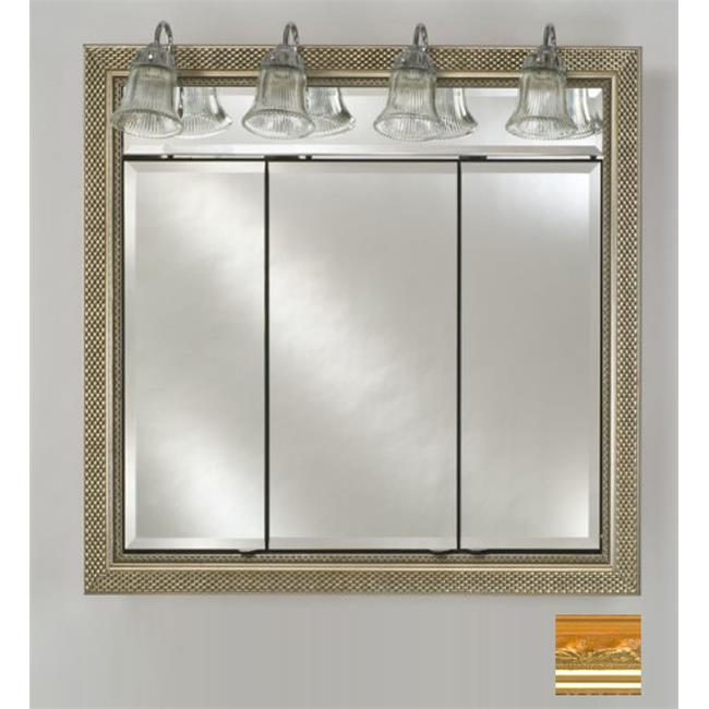 Afina Corporation TD-LT4434RMAJGD 44 in.x 34 in.Recessed Triple Door Cabinet with Traditional Lights - Majestic Gold - image 1 of 1