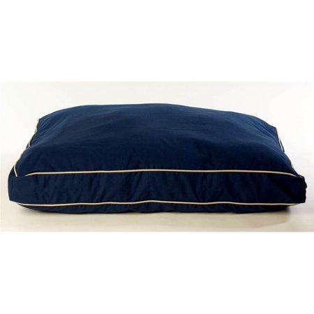 Carolina Pet Company Classic Twill Rectangular Dog Pillow With Sage Cording