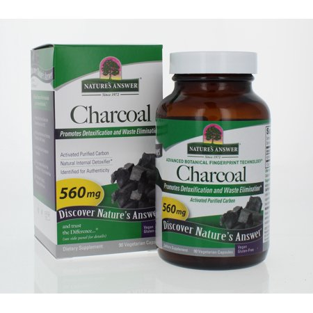 Nature's Answer Activated Charcoal Capsules, 90 Ct