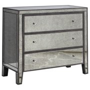 Henrik Gray Brown with Antique Mirror Hall Chest