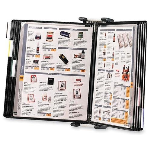 Tarifold Antimicrobial Reference Display System - 20 Sheet[s]/panel - Letter Size - 1 Each - Black (WA271)