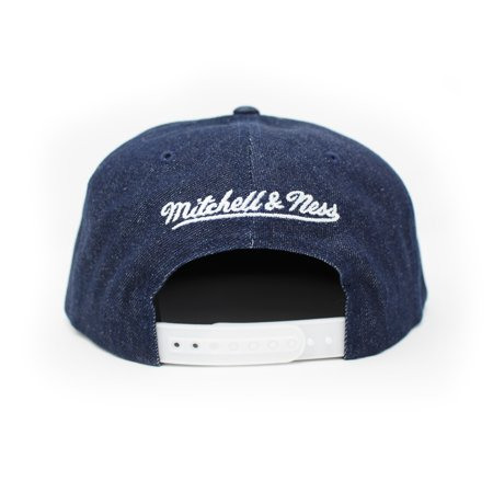 Mitchell and Ness Toronto Raptors Polka Dot Denim Blue Snapback Hat - image 2 of 5