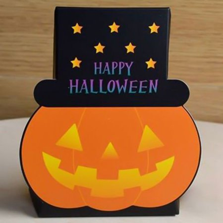 Halloween Is Not Satan's Birthday (Fancyleo 5/10Pcs Halloween Favor Paper Boxes Pumpkin Candy Boxes Halloween Treat Boxes for Halloween Party Decorations Kids Pumpkin Theme Birthday Party)
