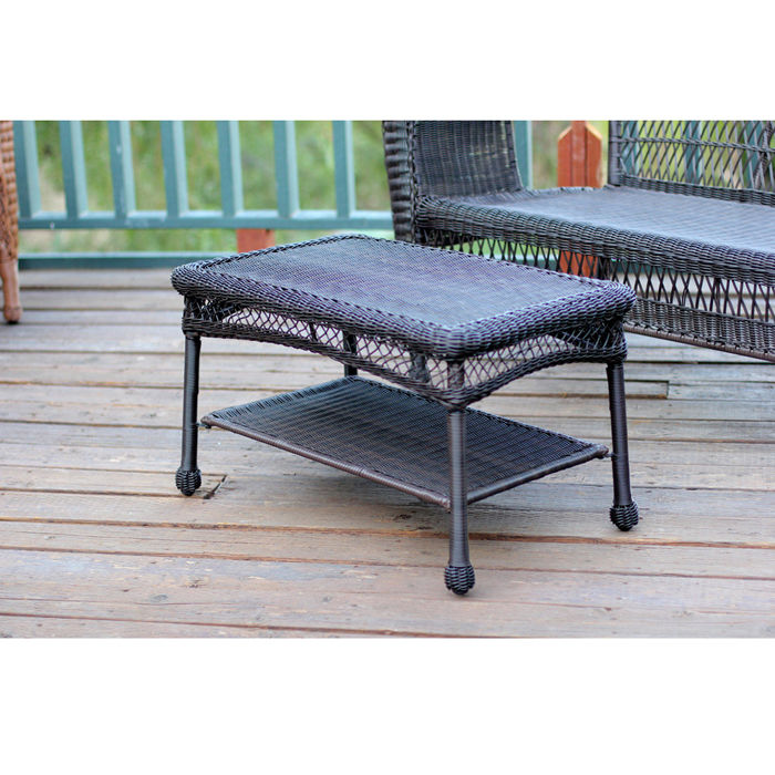 Outdoor Resin Wicker Coffee Table by Jeco by Jeco